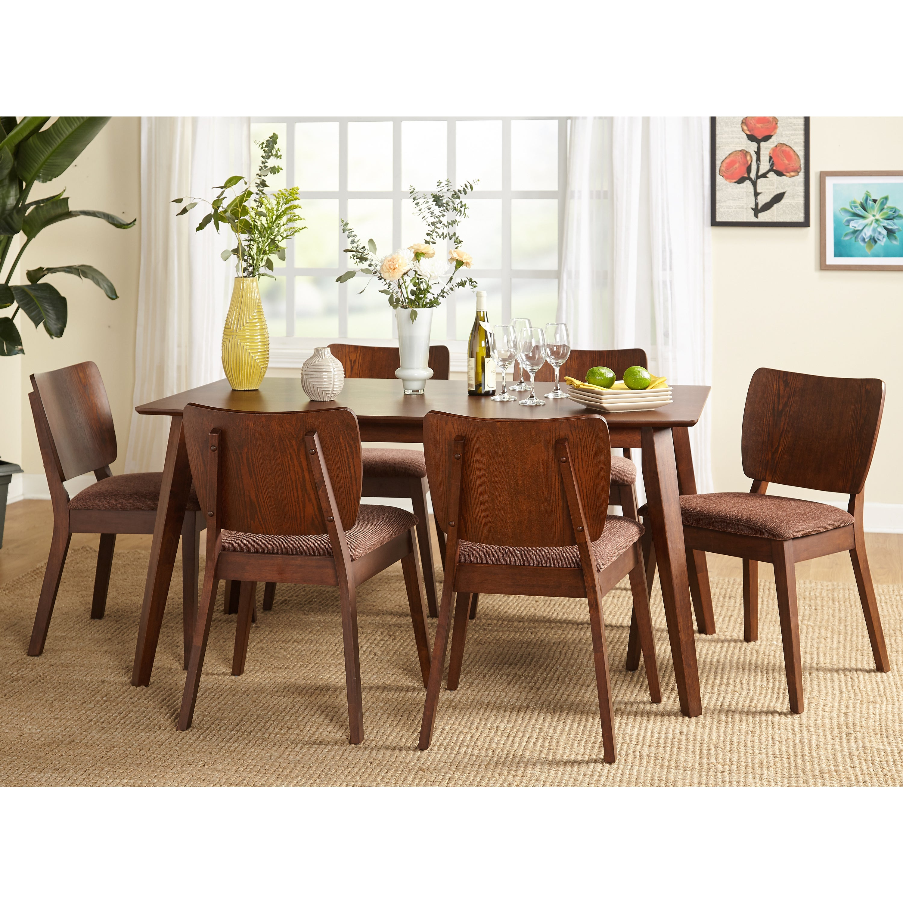 Buy 7 Piece Sets Mid Century Modern Kitchen Dining Room Sets