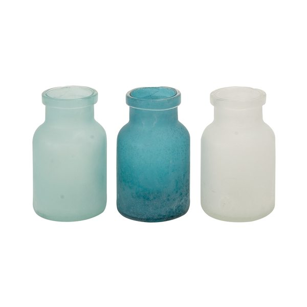 Shop Frosted Glass Vases Pack Of 3 Free Shipping Today