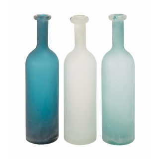Assorted 18-inch Glass Vases (Pack of 3)