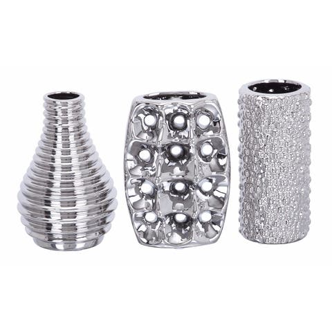 Buy Silver Vases Online At Overstock Our Best Decorative