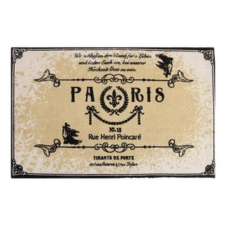 Chesapeake Paris Printed Cotton Typography Accent Rug (24 x 36)