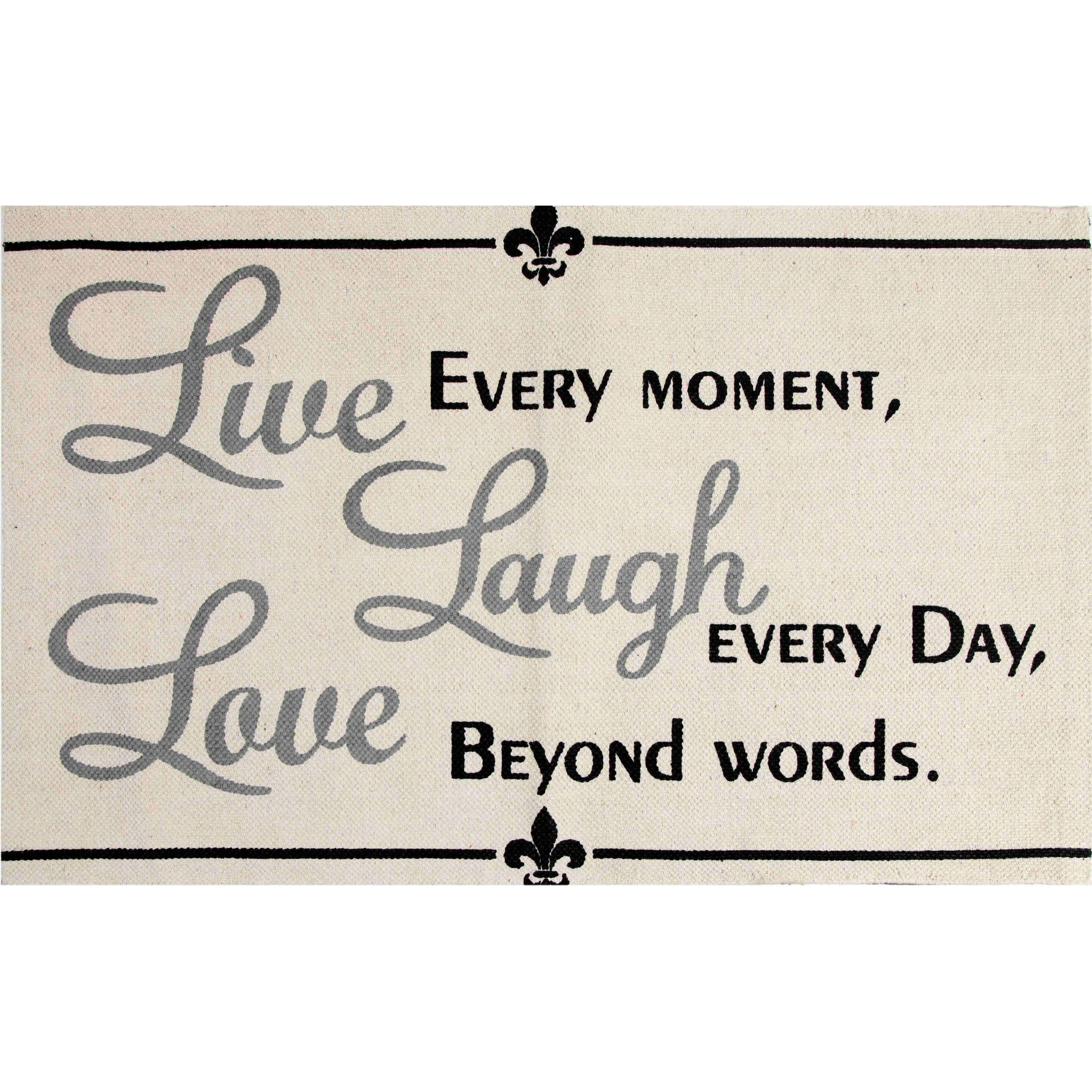Chesapeake Merchandising, Inc Live, Laugh, Love Cotton Pr...