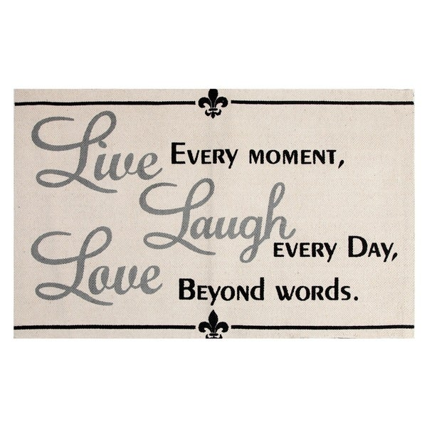 Shop Live Laugh Love Cotton Printed Accent Rug 2 X 3