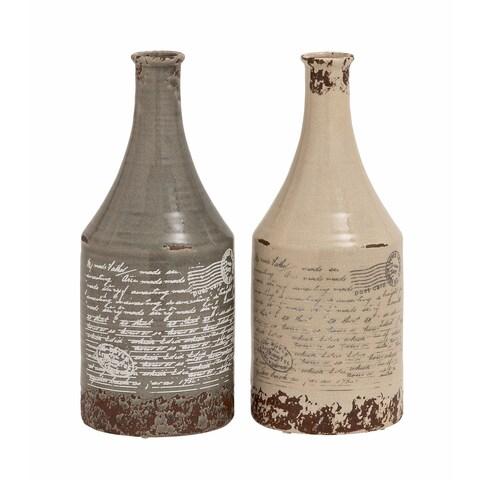 Maison Rouge Lamartine Ceramic 16-inch Vases (Set of 2)