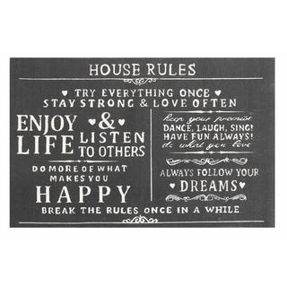 House Rules Cotton Printed Accent Rug (2' x 3')