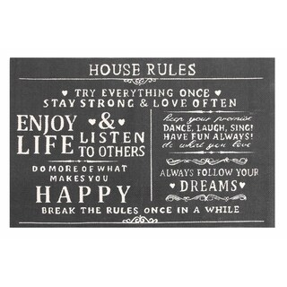 House Rules Cotton Printed Accent Rug - 2' x 3'