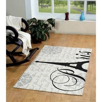 Eiffel Cotton Printed Accent Rug - 3' x 5'