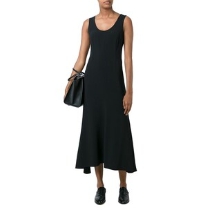 Stella McCartney Women's Black Viscose Sleeveless Maxi Dress