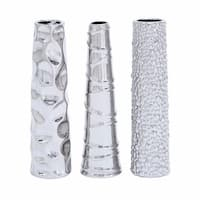 Carson Carrington Alavus Silver Ceramic Vase (Set of 3)