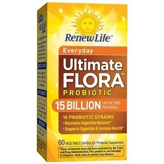 Renew Life Ultimate Flora Everyday Probiotic 15 Billion (60 Capsules)