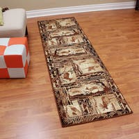 Lodge Design Moose, Deer & Duck Tan Color Runner - 2'2 x 7'1