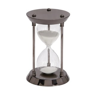 Clay Alder Home Hernando Metal and Glass Sand Timer