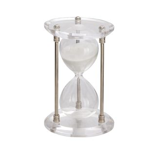 Clay Alder Home Hernando Silver Acrylic and Metal Sand Timer