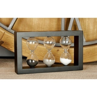 Wood/Glass Sand Timers (Set of 2)
