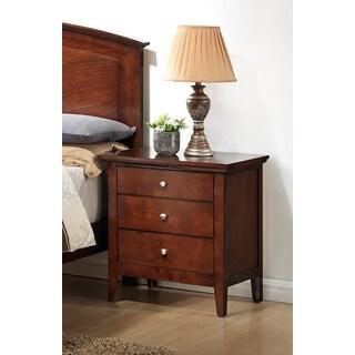 LYKE Home 3-drawer Cherry Nightstand