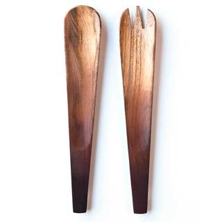 Ombre Mango Wood Handmade Salad Servers