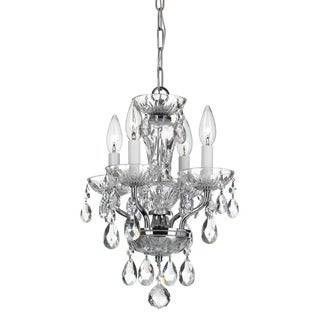 Crystorama Traditional Collection 4-light Chrome/Italian Crystal Mini Chandelier