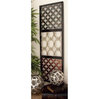 Set of 3 Contemporary Rectangular Quatrefoil Wall Decors by Studio 350