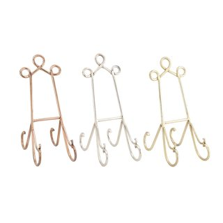 Gold/Silver/Copper Metal Easels (Pack of 3)