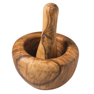 Handmade Olive Wood Mortar and Pestle (India)