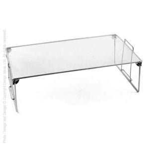 Large Silver Steel Mesh Stuff Shelf