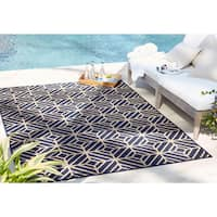 """Mohawk Home Oasis Rockport Navy (10'6x14') - 10'6"""" x 14'"""
