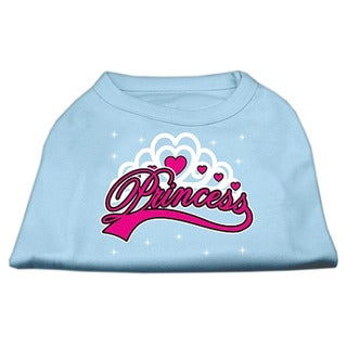 Mirage Pet Products 'I'm A Princess' Blue/Pink Cotton-blend Screen Print Large Shirt