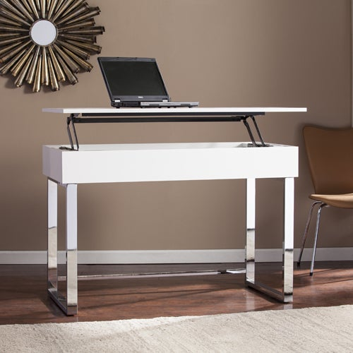 Shop Harper Blvd Ida White Adjustable Height Sit Stand Desk On