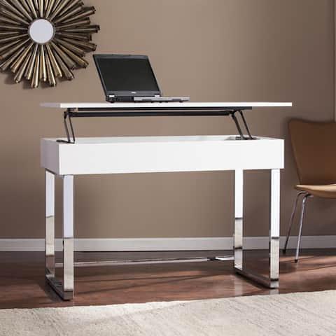 Ida White Adjustable Height Sit/ Stand Desk