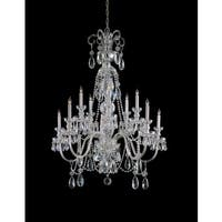 Crystorama Traditional Collection 10-light Polished Chrome/Crystal Chandelier
