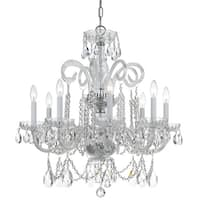 Crystorama Traditional Collection 8-light Polished Chrome/Swarovski Elements Spectra Crystal Chandelier