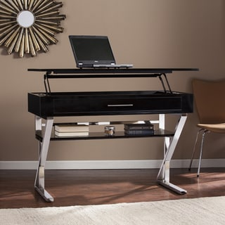 Shop Harper Blvd Loren Black Adjustable Height Sit Stand Desk On