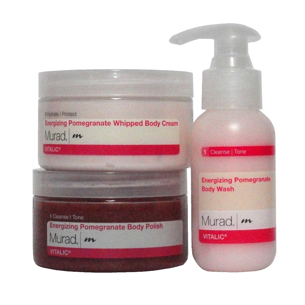 Murad The Power of Pomegranate (Red) 3-piece Body Spa Set...