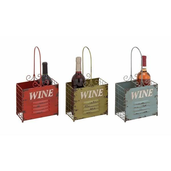 Metal Wine Holder (Pack of 3)