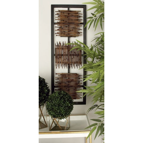 Wood Wall Decor (Set of 2) - Brown