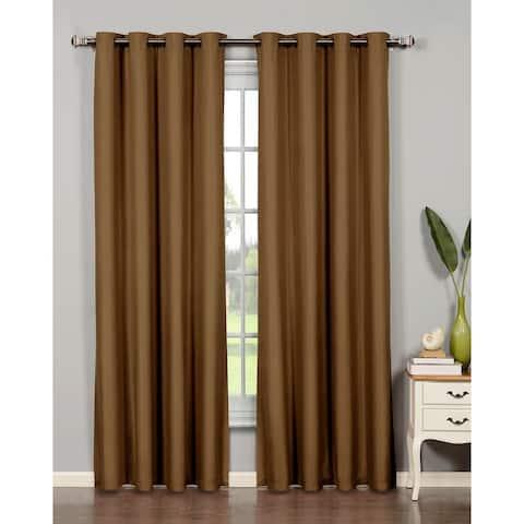 Bella Luna Euphoria Microfiber Room Darkening Extra Wide 84-inch Grommet Curtain Panel - 54 x 84 in.