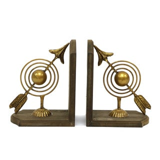 Gold/Brown Bullseye Bookends (Set of 2)