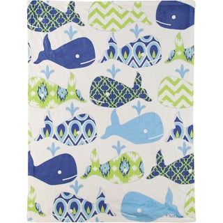 Splish Splash Multicolor Fleece Throw