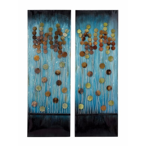 Modern Reflections Metal Wall Plaque (Set of 2)