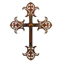 Rustic Elegance Copper-finish Iron Wall Cross