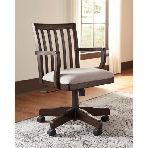 Signature Design by Ashley Townser Grey Home Office Swivel Desk Chair