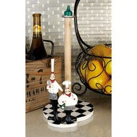 Polystone and Wood Chef Paper Towel Holder