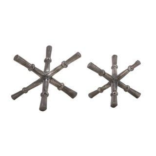 Grey Aluminum Orbs (Set of 2)
