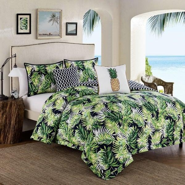 Shop Tropical Paradise 5 Piece Green Cotton Comforter Set