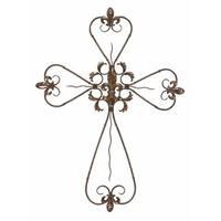 Copper Grove Chatfield Rustic Elegance Bronze Iron 36-inch Wall Cross