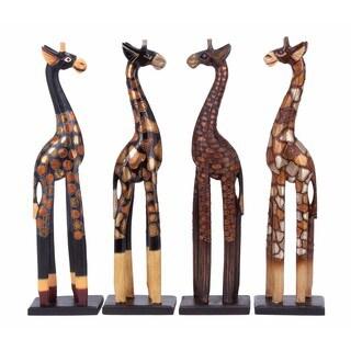 Wood Giraffe (Pack of 4)
