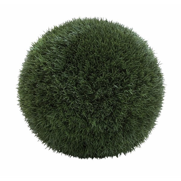 Green Iron Wire and Plastic Grass Ball