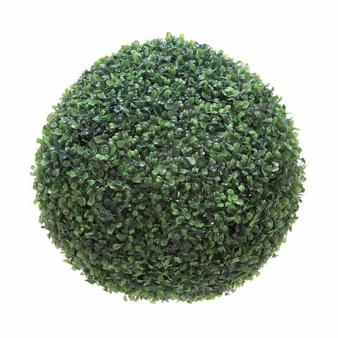 The Gray Barn Hogback Green Plastic Polyester Boxwood Ball