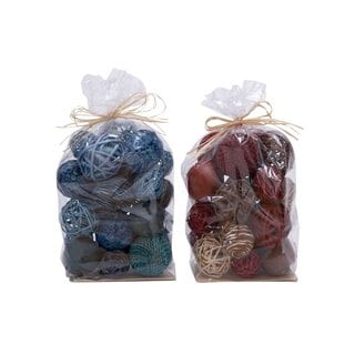 Coastal Living Natural Dried Flower Balls (Set of 2)