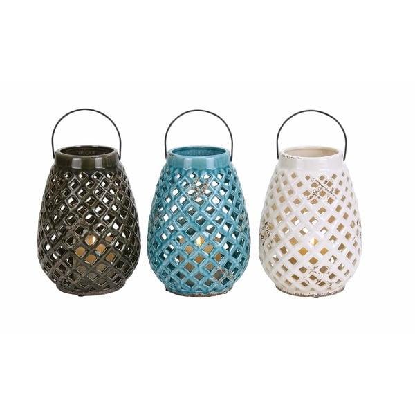 Ceramic Decorative Lantern (Pack of 3)